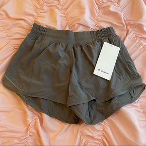 """NWT Lululemon Hotty Hot Shorts 4"""" - Grey Sage"""